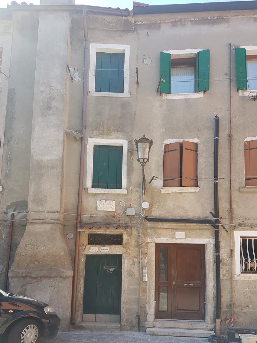 Casa accostata a Chioggia